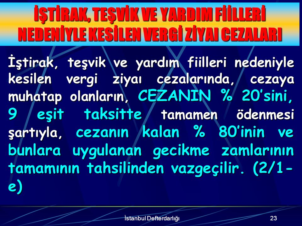 İstanbul Defterdarlığı24 6183 SAYILI KANUN UARINCA TECİL EDİLEN ALACAKLARDA (618348) 6183 sayılı Kanunun 48 inci maddesi uyarınca tecil edilip de tecil şartlarına uygun olarak ödenmekte olanlarından, kalan taksit tutarları için mükellefler, talep etmeleri halinde bu hükümlerinden yararlanabilirler.