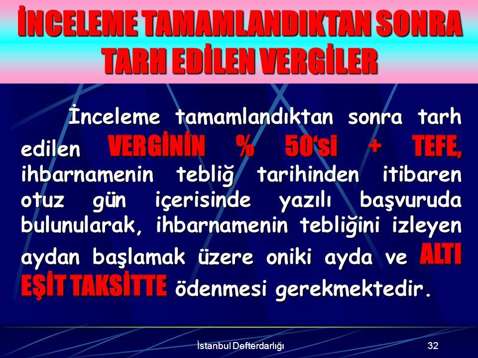 İstanbul Defterdarlığı33 Örnek A Ltd Şti Ekim 2001 Katma Değer Vergisi döneminde incelemeye alınmış ve tamamlanan incelemede tespit edilen matrah farkından dolayı 40.000.000.000 TL Katma Değer Vergisi tarh edilmiştir.