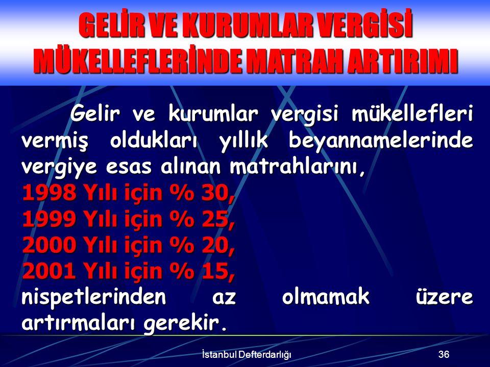 İstanbul Defterdarlığı37 Örnek Ahmet Aslan, 1998 yılında 1.000.000.000 TL gelir beyan etmiştir.