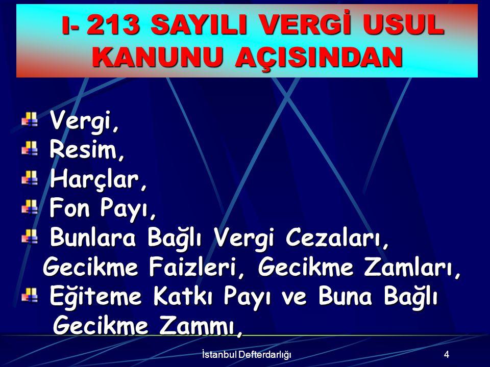 İstanbul Defterdarlığı5 Ecrimisiller ve Buna Bağlı Ecrimisiller ve Buna Bağlı Gecikme Zammı, Gecikme Zammı, II- 2886 SAYILI DEVLET İHALE KANUNU AÇISINDAN II- 2886 SAYILI DEVLET İHALE KANUNU AÇISINDAN