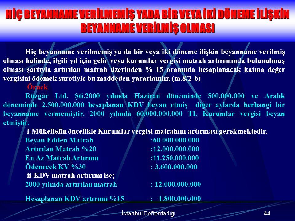 İstanbul Defterdarlığı45 İŞLEMLERİN TAMAMI KDVK'nun 32.