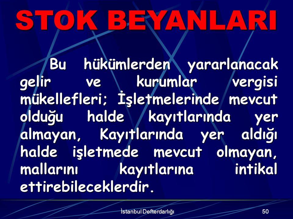 İstanbul Defterdarlığı51 ORANLAR BEYAN EDİLEN UNSUR ORANİNDİRİM Makine% 10İndirilmez Teçhizat% 10İndirilmez Demirbaşlar% 10İndirilmez Genel Orana Tabi Emtia % 10İndirilir Diğer EmtiaOranı/2İndirilir