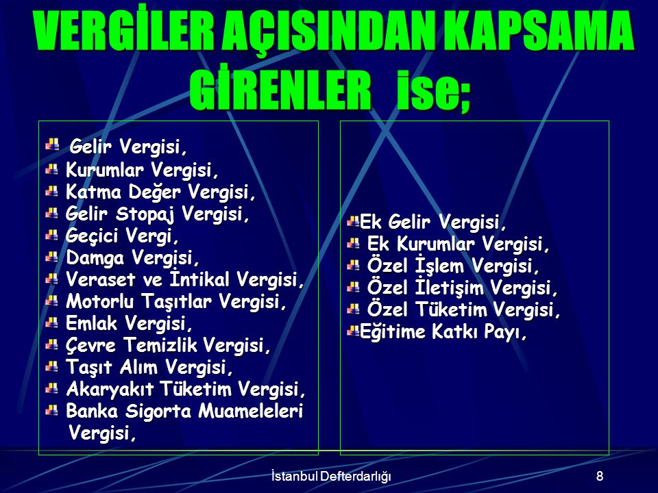 İstanbul Defterdarlığı9 Trafik Para Cezaları, Tapu ve Kadastro Harçları, Tapu ve Kadastro Harçları, Noter Harçları, Noter Harçları, Konsolosluk Harçları, Konsolosluk Harçları, Mahkeme Harçları, Mahkeme Harçları, Gemi ve Liman Harçları, Gemi ve Liman Harçları, Pasaport.