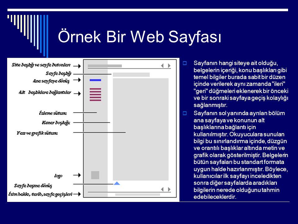 Web Sayfası Öğelerinin Kullanımı  Resim ve Grafik Kullanımı; ,jpg, gif,.png uzantıya sahip resim dosya formatları kullanılmalı.