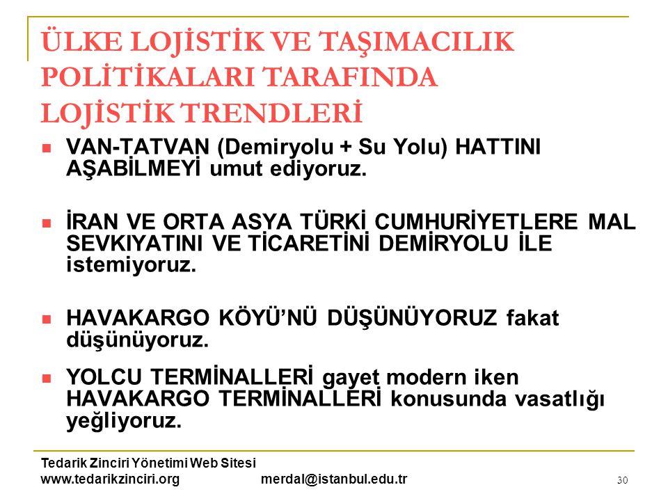 Tedarik Zinciri Yönetimi Web Sitesi www.tedarikzinciri.org merdal@istanbul.edu.tr 31  KUZEY VE GÜNEY MARMARA'YI ENTEGRE ETMEYE ÇABALIYORUZ.