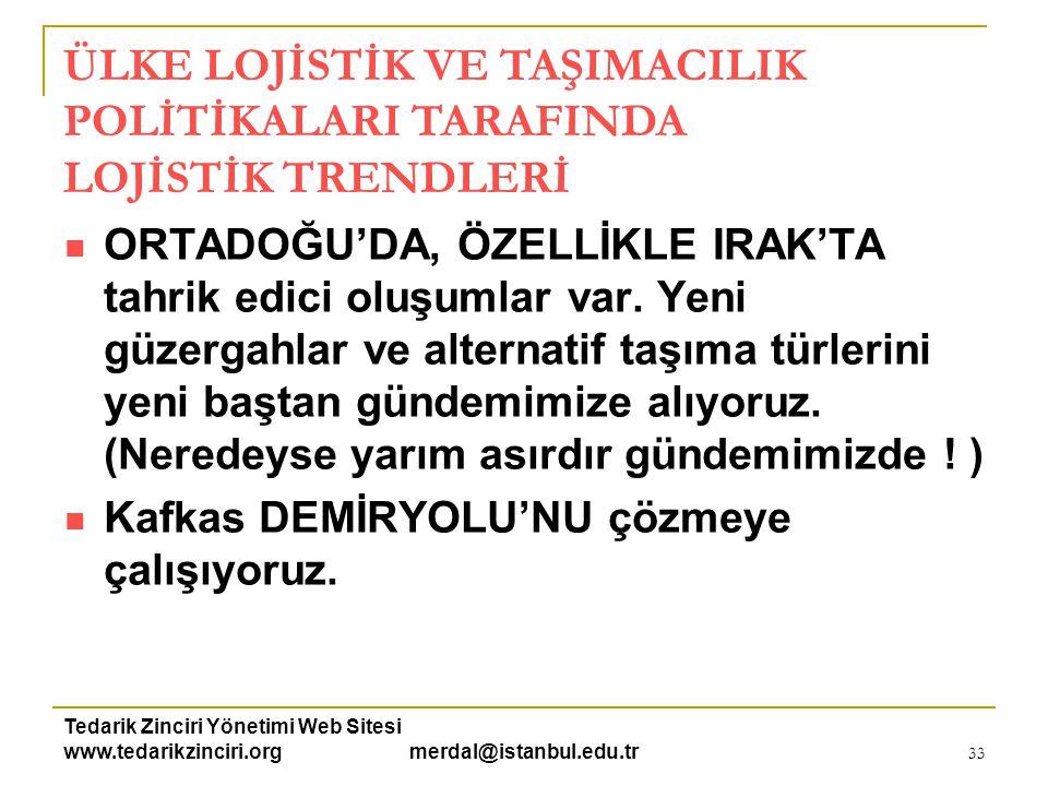 Tedarik Zinciri Yönetimi Web Sitesi www.tedarikzinciri.org merdal@istanbul.edu.tr 34  Lojistik işletmeleri yeni ve farklı alanlarda fizibilite çalışmaları yapıyor.