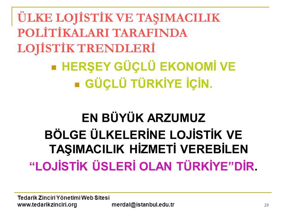Tedarik Zinciri Yönetimi Web Sitesi www.tedarikzinciri.org merdal@istanbul.edu.tr 40 TEŞEKKÜRLER… Doç.