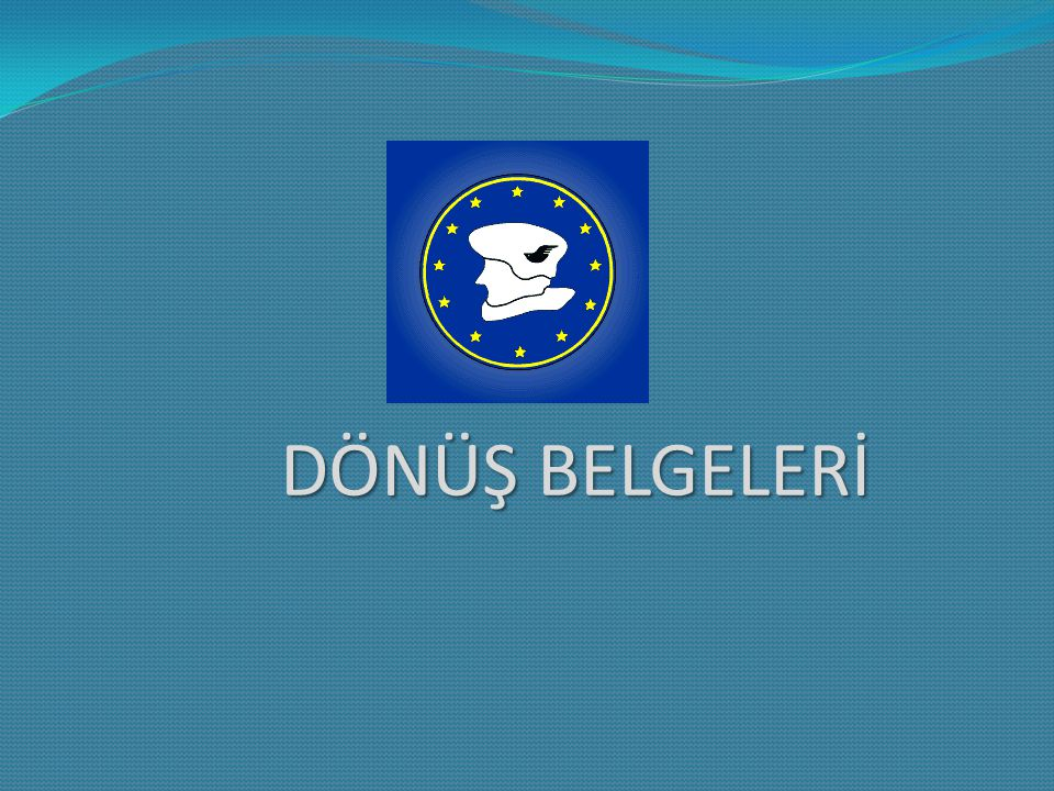 1) Eğitim anlaşması ve Kalite Taahhüdü (Training Agreement and Quality Commitment) 2) Katılım Sertifikası 3) Yurtdışındaki Staj Döneminin Başarı Değerlendirmesini Gösteren Bir Belge 4) Rapor Formu 5) Pasaport Fotokopisi 6) Biniş Kartları ERASMUS STAJ ORYANTASYONU / 20.04.2012