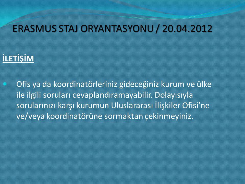 LLP/Erasmus Kurum Koordinatörü: Prof.Dr.