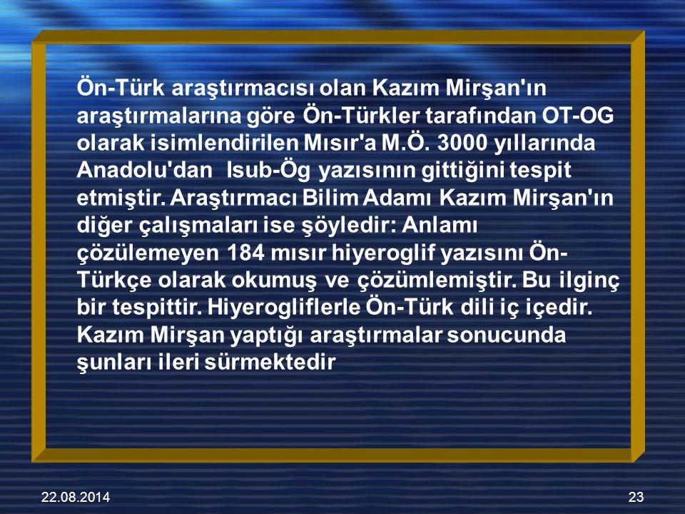 22.08.201424 tıbbi operasyondur Yazı, Türkler tarafından M.Ö.
