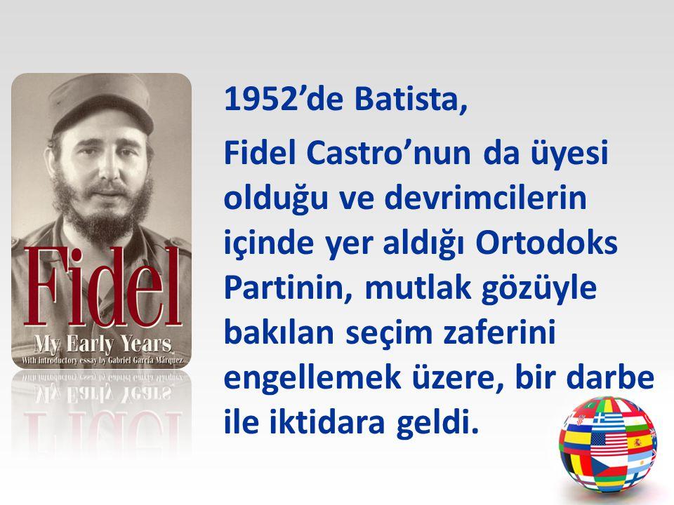 Bir avukat olan Fidel Castro, siyasî çalışmalarını öğrenci hareketi ve Ortodokslar arasında sürdürüyordu.