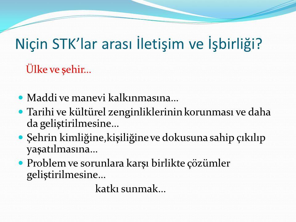 Niçin STK'lar arası İletişim ve İşbirliği.