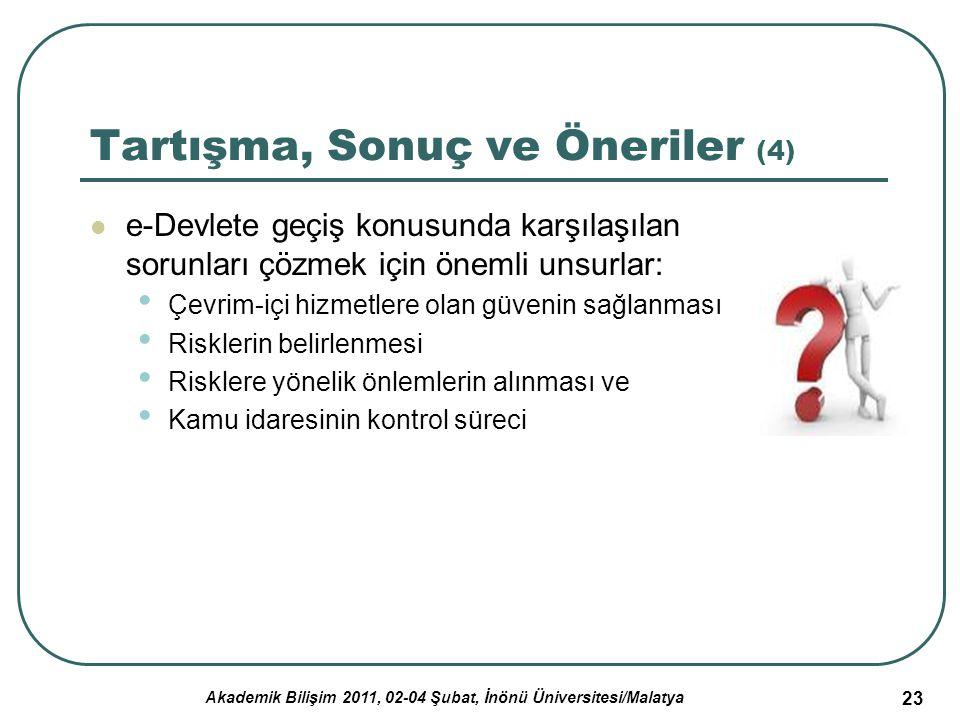 Akademik Bilişim 2011, 02-04 Şubat, İnönü Üniversitesi/Malatya 24 Teşekkürler… Çelen, F.