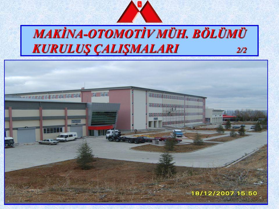 ENDÜSTRİ MÜHENDİSLİĞİ BÖLÜMÜ KURULUŞ ÇALIŞMALARI 1/2 1.6.2004 tarihinde YÖK kararı ile kuruldu.