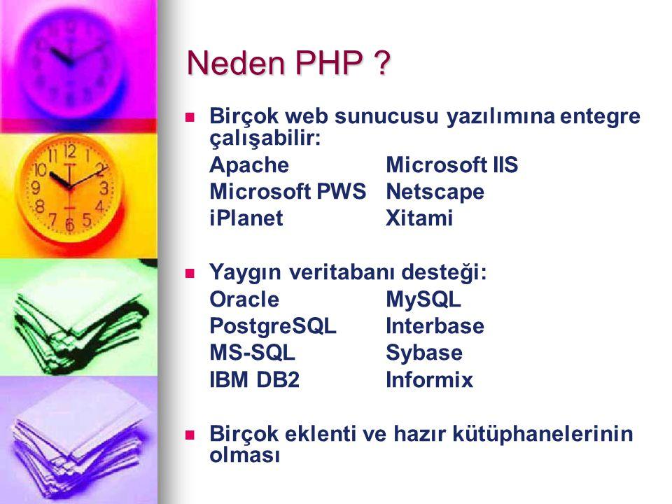 PHP yazım Kuralları Php komutları ;(noktalı virgül) işaretiyle sonlandırılır.