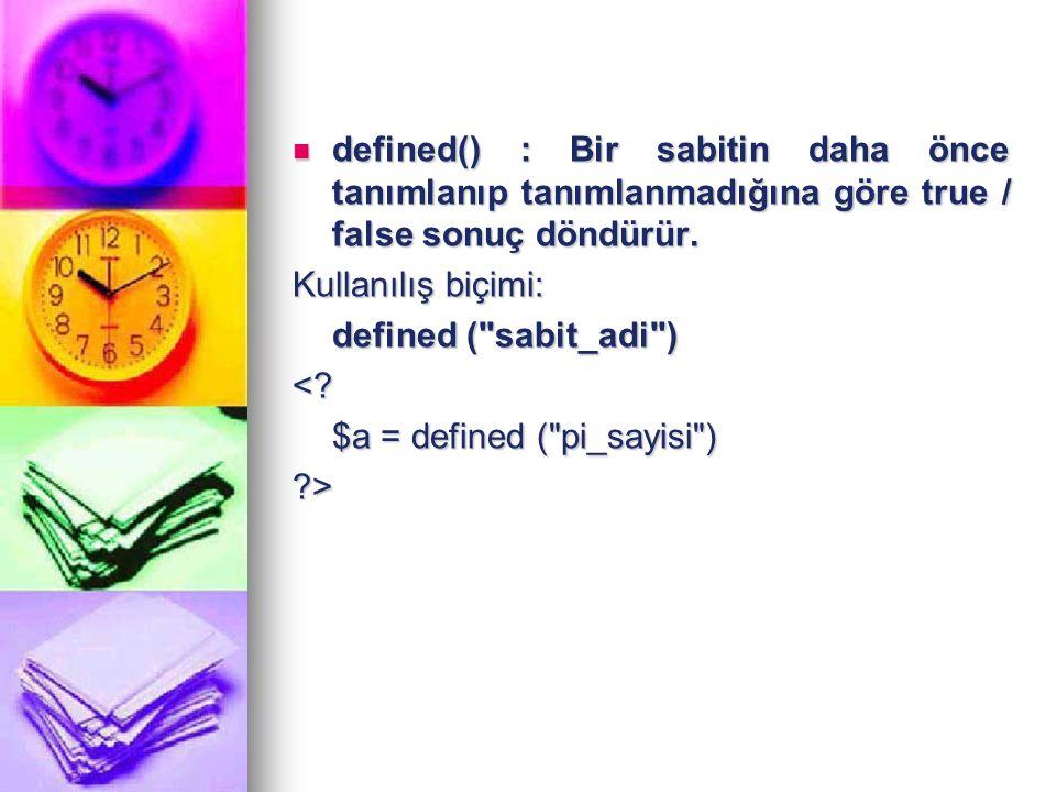 İki String'i Birleştirme (Concotenation) İki string ifadeyi birleştirmek için . kullanılır.