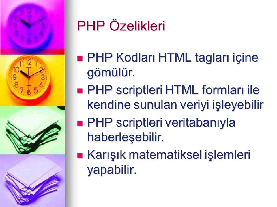 PHP ile neler yapılabilir.