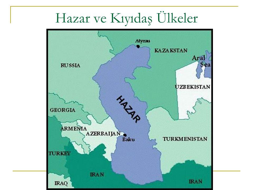 TARİHİ 1813 – Gülistan Antlaşması 1828 – Türkmençay Antlaşması: Bu antlaşmalarla Hazar Denizi, Rusya ile İran arasında bölünmüştür.