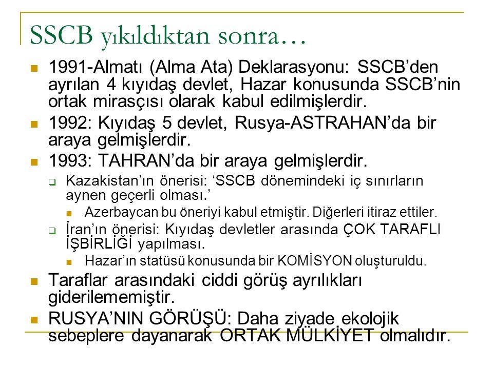 Ama Rusya, hemen sonra, TAM TERS İ NE… 26 Kasım 1993: Rusya-Azerbaycan Antlaşması: PETROL ve GAZ ALANINDA HÜKÜMETLERARASI ARAŞTIRMA ve GELİŞTİRME ANTLAŞMASI:: (Enerji Bakanı Yuri Şafranik + Aliyev).