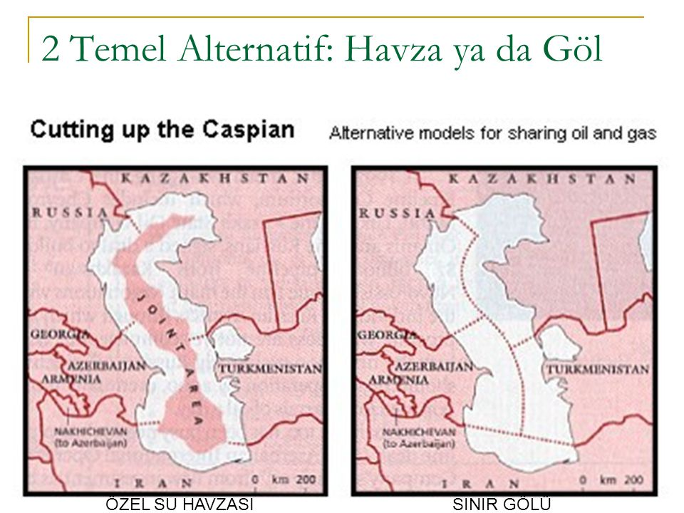1997: Rusya'n ı n çeli ş kisi 1997 yılında Rusya ve Azerbaycan, Azerbaycan ve Türkmenistan arasında bulunan Çirağ, Kepez, Azeri adalarında petrol çıkarma sözleşmeleri yapmışlar, ancak Türkmenistan buna karşı çıkmıştır.