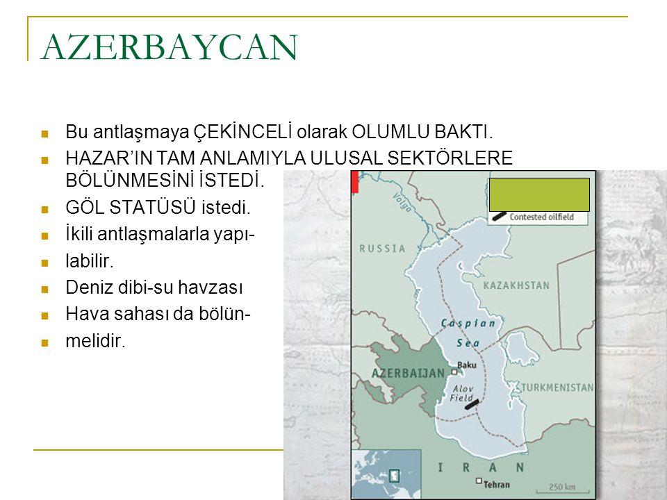 Tahran- İ KÖ Zirvesi (1998): Azerbaycan- Türkmenistan yakınlaşması Türkmenistan-Azerbaycan mutabakatı:  İki ülke arasındaki sorunların çözümünde ORTAK KOMİSYON kurulması.