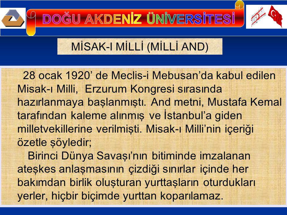 Osmanlı saltanatının ve halifeliğin merkezi İstanbul'un güvenliği sağlanması koşuluyla Boğazlar açılabilir.