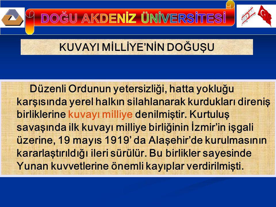 Mustafa Kemal, bu birliklerin elden geldiğince denetim altına alınması için çaba sarfetmiştir.