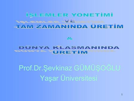 1 Prof.Dr.Şevkinaz GÜMÜŞOĞLU Yaşar Üniversitesi. https://www.youtube.com/watch? v=Utafn8QKJDU https://www.youtube.com/watch?v=c8AAXsNOO7A watch?v=J4v-HjY3R0Y.