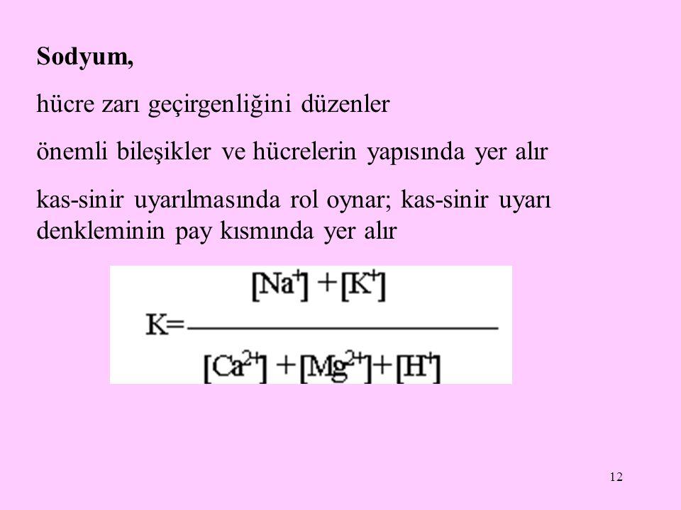 13 Erişkin sağlıklı bir insanda serum sodyum düzeyinin normal değeri 140  7,3 mEq/L Serum sodyum düzeyinin normalden yüksek olması hipernatremi olarak tanımlanır.