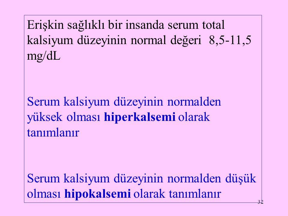 33 Fosfor (P) Fizyolojik olarak hücre içi ve dışında fonksiyon görür, ana deposu iskelet sistemidir.