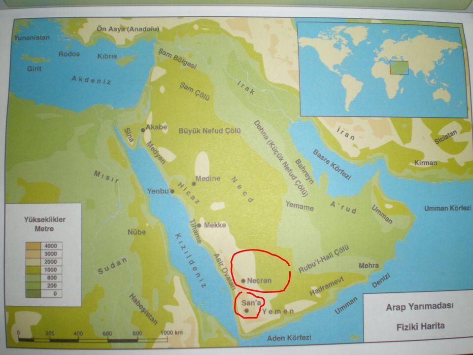 COĞRAFİ ORTAM Hadramut ve Umman Yemen'in doğusunda, dağlık olan ve vadilerle yarılmış bölgeye Hadramut adı verilir.