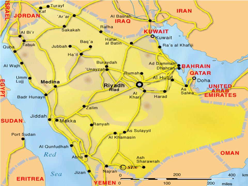 COĞRAFİ ORTAM Yarımadanın kuzey kesiminde Nüfûd çölü, Güney kesiminde ise Rubu'l-Hâlî adı verilen çöller bulunur.