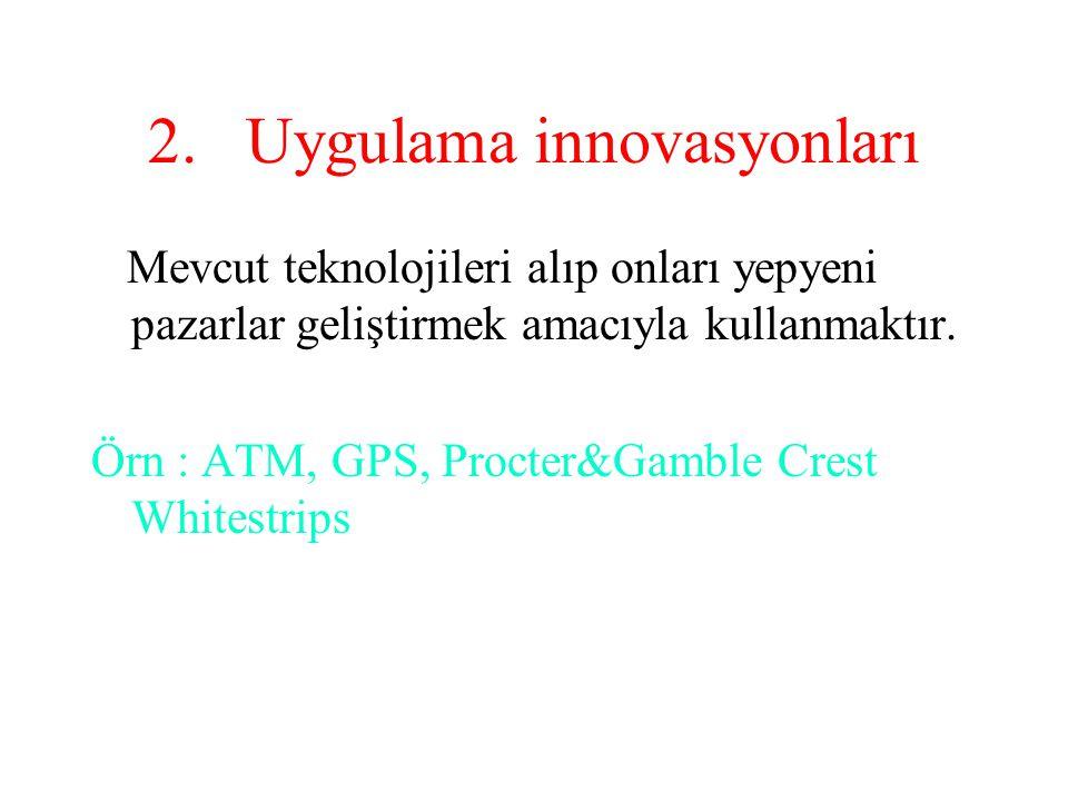 3.Ürün innovasyonu Mevcut bir ürünü alıp bir üst seviyeye çıkartmak.
