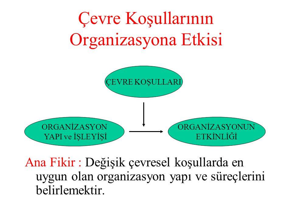 BURNS – STALKER Çalışması İçerisinde Suni İpek işletmesi, Mühendislik işletmesi bulunan 20 işletme incelenmiştir.