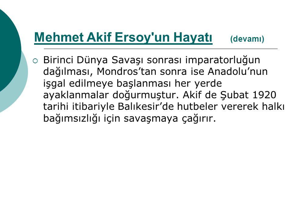  Her milletin bir İstiklal Marşı olduğu, Türk milletinin de bir İstiklal Marşının bulunması gerektiği fikri üzerine TBMM tarafından marş için yarışma açılmış, ancak başvuran yedi yüzün üzerindeki eser arasından uygun birisi bulunamamıştır.