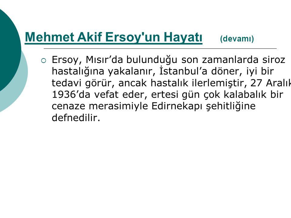  Kısacası 1936 da sağlığının bozulması, vatan hasreti ve ülkesinden uzakta ölmek korkusuyla İstanbul a döndü ve burada öldü.