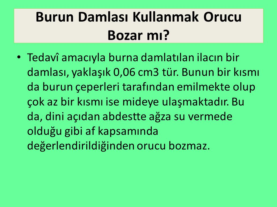 Kalp Hastalarının Dilaltı Hapı Kullanması Orucu Bozar mı.