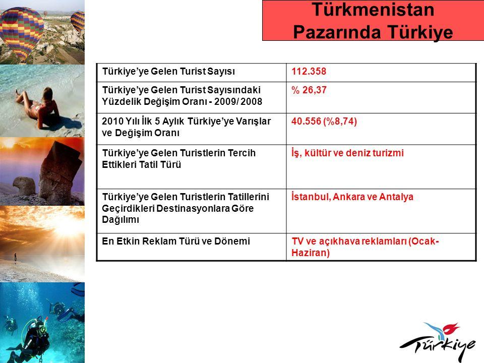 İRAN Ülke Nüfusu 73.650.566 Turizm Otoritesi İran Kültürel Miras, El Sanatları ve Turizm Kurumu (ITTO) Çıkış Yapan Toplam Turist Sayısı Yaklaşık 5.500.000 (2009) Dış Turizm Harcaması Yaklaşık 10 Milyar USD (2009) Tur Operatörleri ve Seyahat Acentesi Sayısı Başta 18 önemli Türkiye spesiyalisti tur operatörü olmak üzere toplam 150 seyahat acentası İranlıların Tercih Ettikleri Ülke Destinasyonları Türkiye, BAE, Malezya,Tayland, Çin, Suudi Arabistan, Suriye ve Irak
