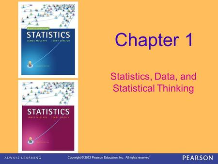 Statistics, Data, and Statistical Thinking