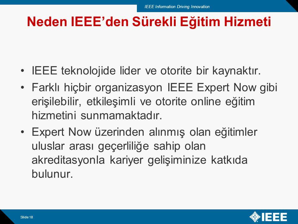 IEEE Information Driving Innovation Slide 19 Seçkin Konferans Eğitimleri IEEE Expert Now Üzerinde