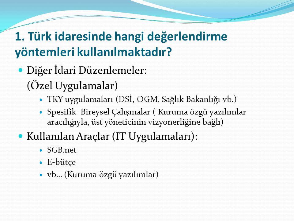 2.Türkiye'deki değerlendirme uygulamalarında başlıca sorunlar/zorluklar hangileridir.