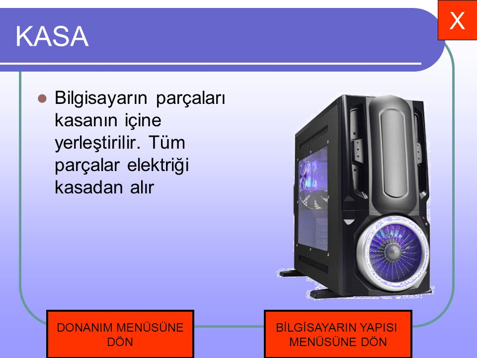 Anakart Bilgisayardaki tüm parçaların bağlı olduğu karta anakart denir.