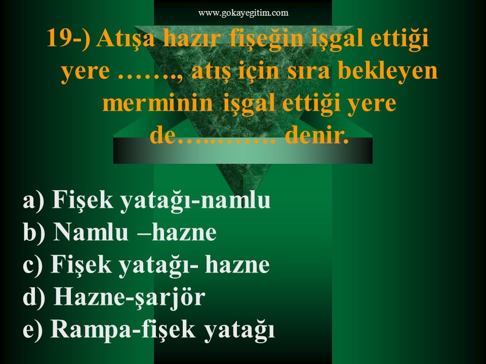 www.gokayegitim.com 20-) Aşağıdaki ifadelerden hangisinde ilk hız doğru olarak tanımlanmıştır.