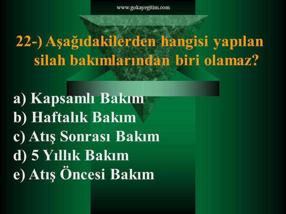 www.gokayegitim.com 23-) Aşağıdakilerden hangisi nişangâh sistemidir.