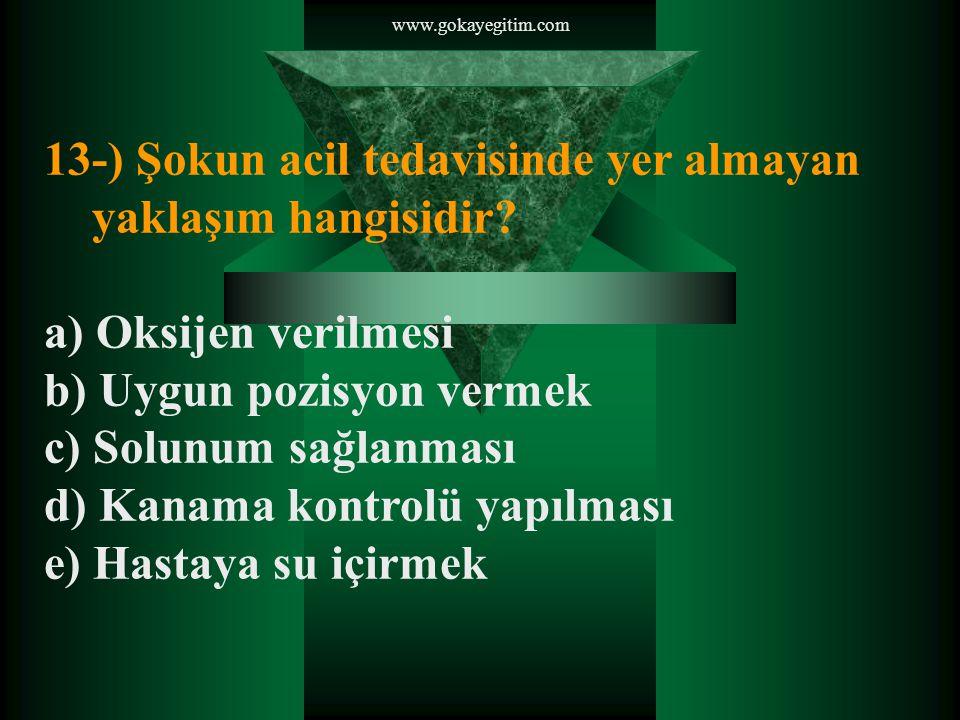 www.gokayegitim.com 14-) Aşağıdakilerden hangisi yasal olma- yan toplumsal olayları başlatan ve yürüten toplulukların güvenlik güçlerine karşı kullandıkları taktikler arasında yer almaz.