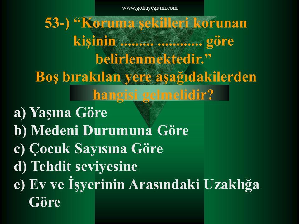 www.gokayegitim.com 54-) Gözaltına alınacak bir topluluğu çevirmek amacıyla kullanılan düzen aşağıdakilerden hangisidir.