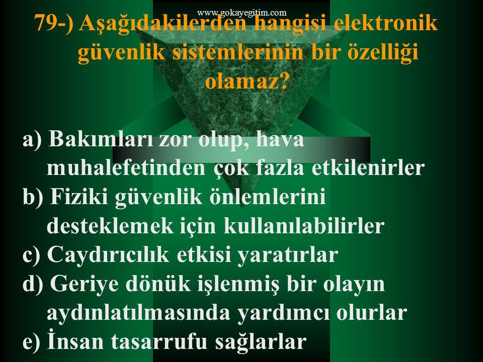 www.gokayegitim.com 80-) Aşağıdakilerden hangisi toplumsal olayların hazırlık safhalarından birisidir.
