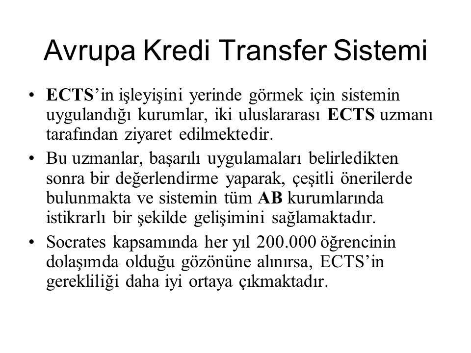 ECTS'İN TEMEL ÖZELLİKLERİ ECTS çerçevesinde yurtdışında öğrenim gören öğrenciler sadece bir süre için değil, istedikleri takdirde programlarını tamamlayana kadar gitmiş oldukları yükseköğretim kurumunda kalabilirler.