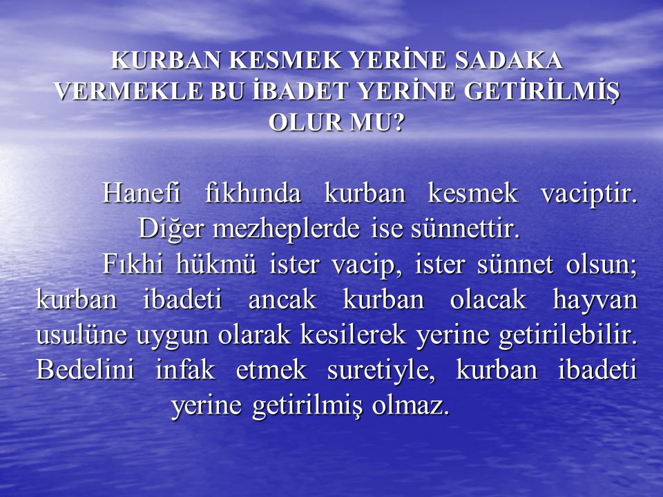 KURBANI KİMLER KESER.