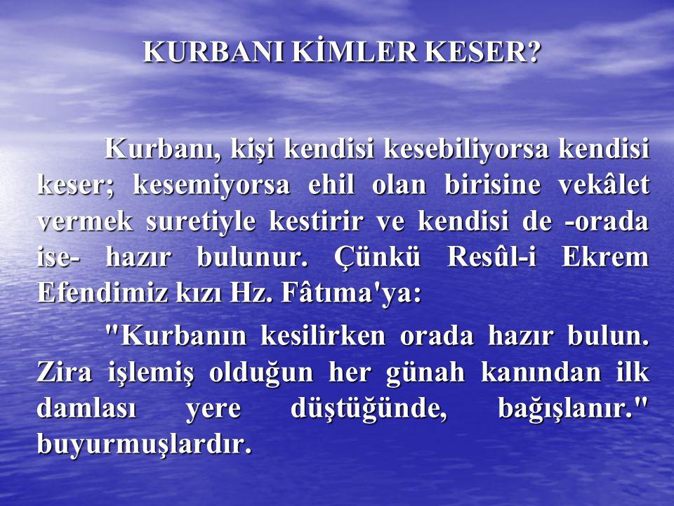 KURBAN BAYILTILARAK KESİLEBİLİR Mİ.